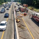 Truck Hits Overpass on I-87, Closes 2 Lanes for Hazmat Spill
