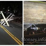 Van Hits and Topples Telephone Pole on Grove Street In Monsey, Cuts Off Power