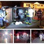 Swerving to Avoid a Deer, Car Turns On Its Side