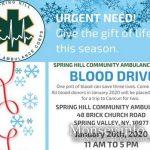 TODAY: Spring Hill Volunteer Ambulance Hosting Blood Drive