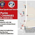Pre-Purim Traffic Changes Start This Sunday