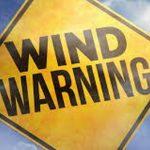 PSA: High Winds Warning Monday