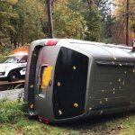Car Overturns in Pomona, Hatzoloh Transports Injured To The Hospital