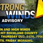 Storm Warning For Thursday Evening in Rockland County